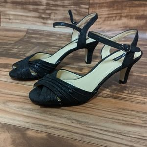 3for$20 Alex Marie black heels leather upper 8m